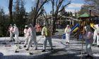 Απολύμανση παιδικής χαράς στην Άγκυρα λόγω κορονοϊού