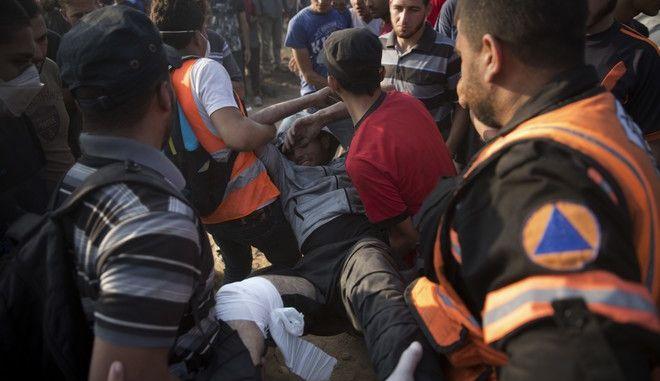 Τραυματίας Παλαιστίνιος στη Γάζα