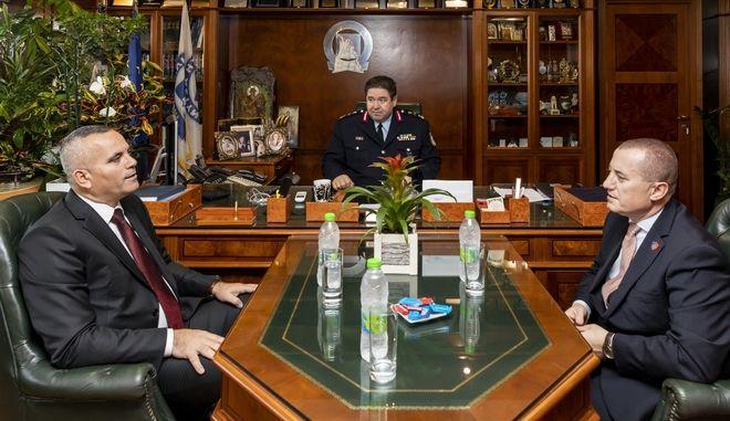 Από τη συνάντηση του Αρχηγού της Ελληνικής Αστυνομίας με τον Αρχηγό της Αλβανικής Αστυνομίας.