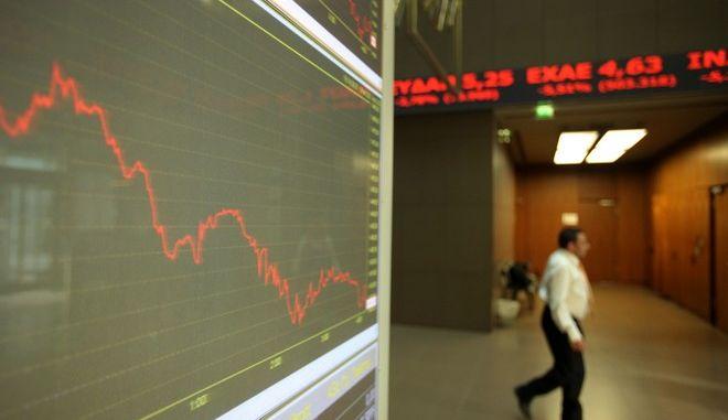 Στιγμιότυπο από την συνεδρίαση του Χρηματιστηρίου Αθηνών την Τετάρτη 28 Ιανουαρίου 2015. (EUROKINISSI/ΚΩΣΤΑΣ ΚΑΤΩΜΕΡΗΣ)