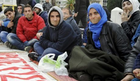 Εννέα Σύροι απεργοί πείνας στον Ευαγγελισμό