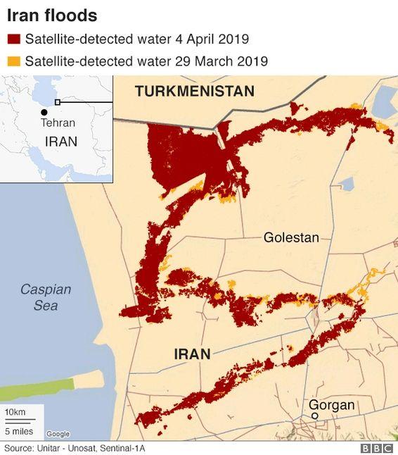 Φονικές πλημμύρες στο Ιράν: Στους 70 οι νεκροί - Εκκενώνονται περιοχές