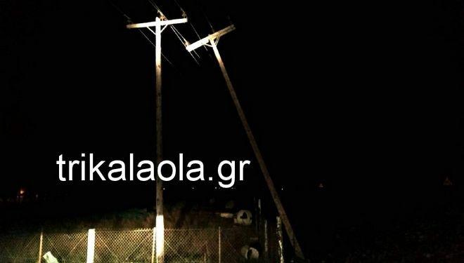 Σφοδρή ανεμοθύελλα έπληξε τα Τρίκαλα - Ξεριζώθηκαν δέντρα, ξηλώθηκαν σκεπές