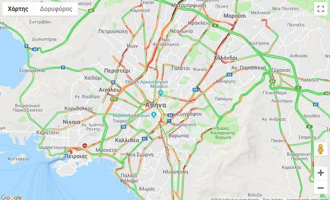Κίνηση στους δρόμους: Χωρίς ιδιαίτερα προβλήματα η κυκλοφορία των οχημάτων