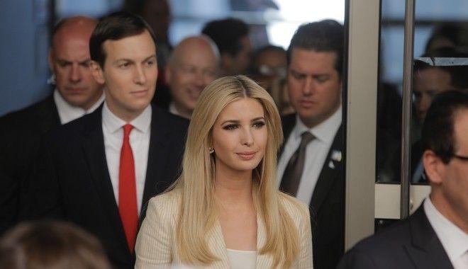 Η κόρη του προέδρου των ΗΠΑ, Ιβάνκα Τραμπ, με το σύζυγό της Τζάρεντ Κούσνερ, στα εγκαίνια της νέας πρεσβείας των ΗΠΑ στην Ιερουσαλήμ