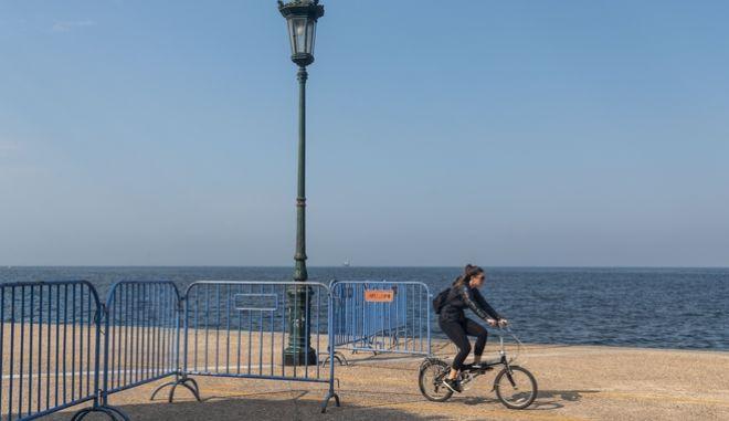 Η παραλία της Θεσσαλονίκης. Φωτό αρχείου.