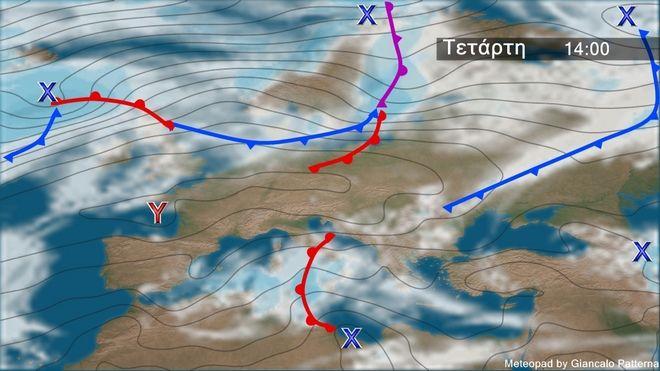 Τοπικές νεφώσεις και βροχές την Τετάρτη