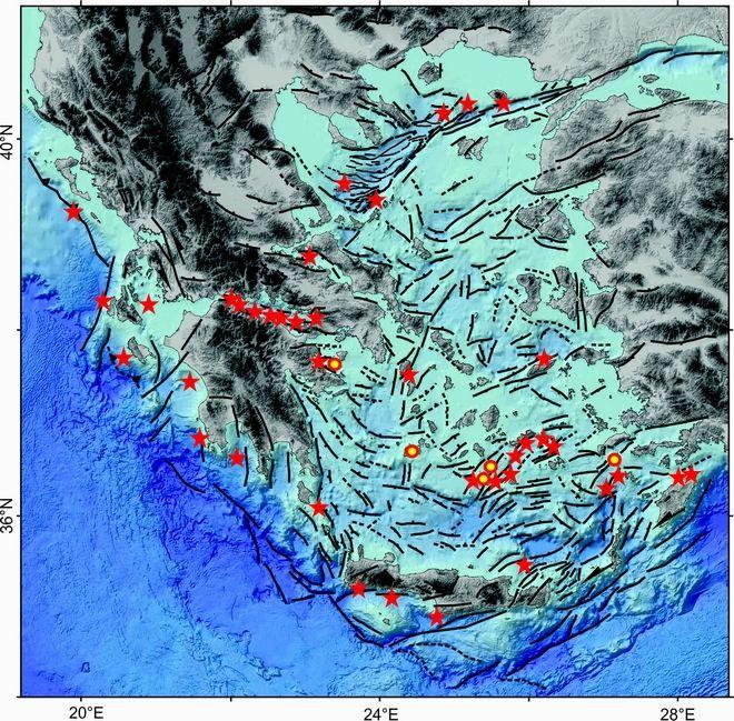 Ενεργά ρήγματα-κατολισθήσεις στον βυθό των Ελληνικών θαλασσών