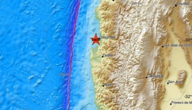 Χιλή: Σεισμός 5,8 Ρίχτερ ανοιχτά του Κοκίμπο