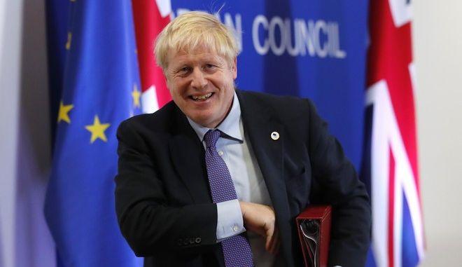 Ο Βρετανός πρωθυπουργός Μπόρις Τζόνσον στις Βρυξέλλες