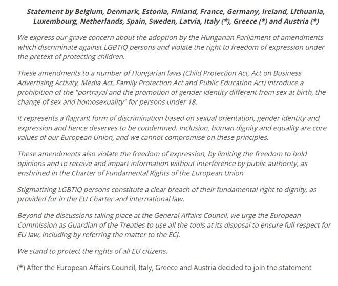 Αναδίπλωση: Η Ελλάδα καταδικάζει τον ομοφοβικό νόμο της Ουγγαρίας, μετά τις αντιδράσεις