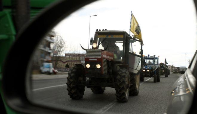 Αποκλεισμός των Τεμπών από αγρότες (φωτό αρχείου)