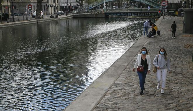 Εικόνα από το Παρίσι σε καιρό κορονοϊού