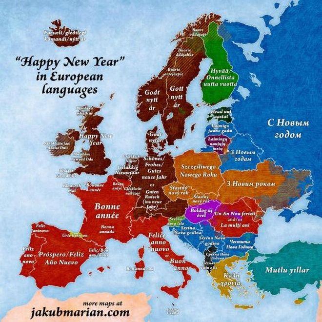 Πώς θα ευχηθείτε 'Καλή Χρονιά!' σε όλες τις ευρωπαϊκές γλώσσες