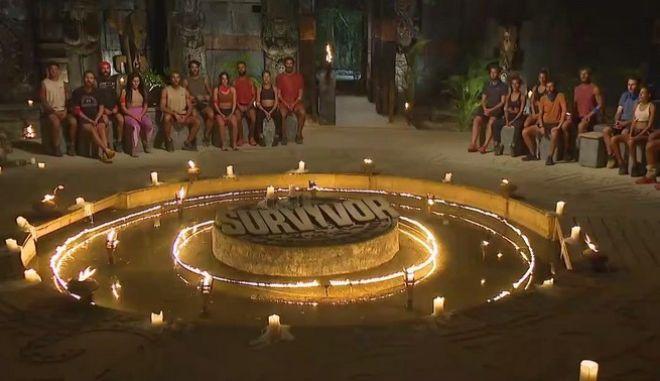 Στιγμιότυπο από το συμβούλιο του νησιού στο Survivor 4