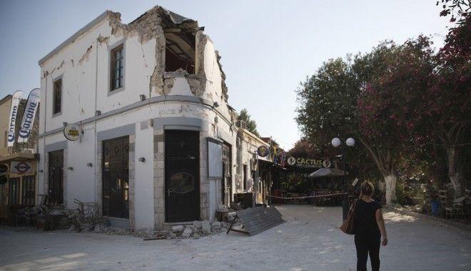 Στιγμιότυπο από την Κω μετά τον σεισμό τον Ιούλιο του 2017