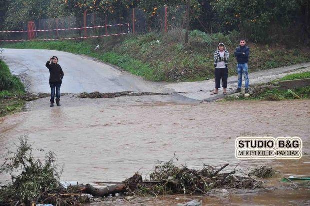 Επικίνδυνα ρέματα και χείμαρροι στο Ναύπλιο από την καταιγίδα