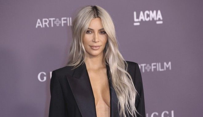 Kim Kardashian West arrives at the LACMA Art + Film Gala at the Los Angeles County Museum of Art on Saturday, Nov. 4, 2017, in Los Angeles. (Photo by Willy Sanjuan/Invision/AP)