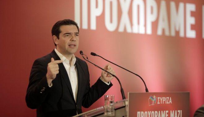 Συνεδρίαση της Κεντρικής Επιτροπής του ΣΥΡΙΖΑ την Κυριακή 9 Απριλίου 2017. (EUROKINISSI/ΓΙΩΡΓΟΣ ΚΟΝΤΑΡΙΝΗΣ)
