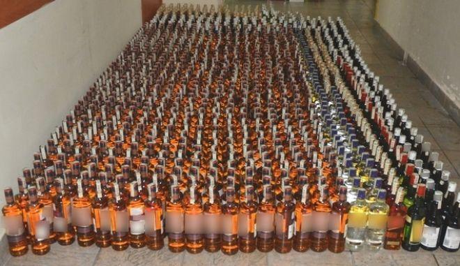 Ακινητοποιήθηκε στον Προμαχώνα φορτηγό γεμάτο λαθραία ποτά αμφιβόλου ποιότητας