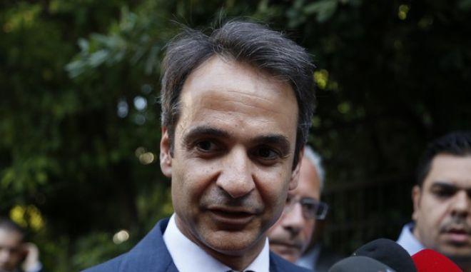 Συνάντηση  του πρωθυπουργού Αλέξη Τσίπρα και του αρχηγού της αξιωματικής αντιπολίτευσης Κυριάκου Μητσοτάκη.(Eurokinissi-ΣΤΕΛΙΟΣ ΜΙΣΙΝΑΣ)