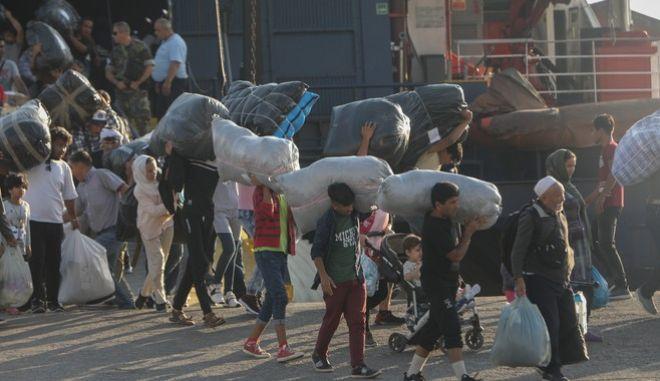Φωτό αρχείου: Μεταφορά  μεταναστών από τη Μόρια στη Θεσσαλονίκη
