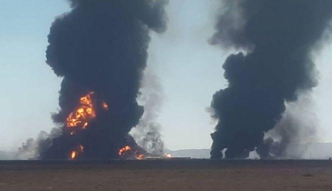Στιγμιότυπο από την έκρηξη