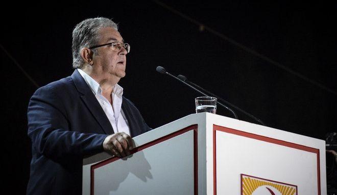 Ομιλία του Γενικού Γραμματέα της Κεντρικής Επιτροπής του ΚΚΕ, Δημήτρη Κουτσούμπα στο Φεστιβάλ της ΚΝΕ στο Πάρκο Τρίτση