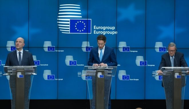 Press Conference Eurogroup finance ministers meeting at the European Council in Brussels, Belgium on Feb 20, 2017. /               20  , 2017