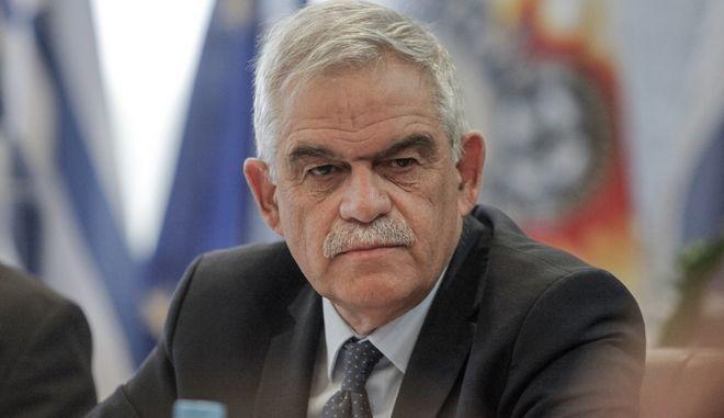 Συνάντηση του Αναπληρωτή Υπουργού Προστασίας του Πολίτη Νίκου Τόσκα με τον Κύπριο Υπουργό Δικαιοσύνης και Δημοσίας Τάξης , Ίωνα Νικολάου. Τρίτη 25 Ιουλίου 2017 (EUROKINISSI/ΓΙΩΡΓΟΣ ΚΟΝΤΑΡΙΝΗΣ)