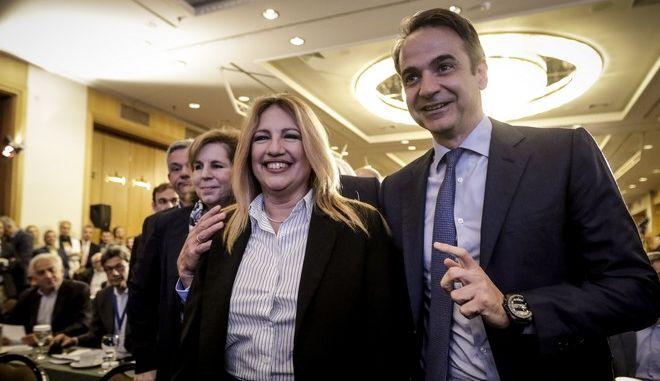 Κυριάκος Μητσοτάκης - Φώφη Γεννηματά σε παλαιότερη συνάντησή τους