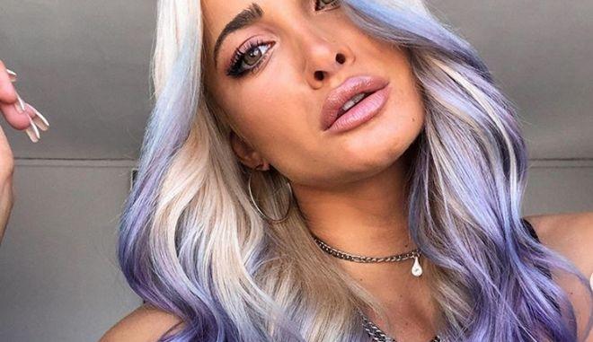 Η Ιωάννα Τούνη έβαψε τα μαλλιά της μωβ