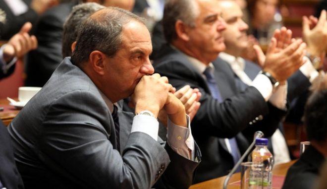 ΑΘΗΝΑ-ΒΟΥΛΗ-Συνεδρίαση της Κοινοβουλευτικής Ομάδας της ΝΔ στην αίθουσα της Γερουσίας/./ ΚΩΣΤΑΣ ΚΑΡΑΜΑΝΛΗΣ.(EUROKINISSI-ΓΙΑΝΝΗΣ ΠΑΝΑΓΟΠΟΥΛΟΣ)