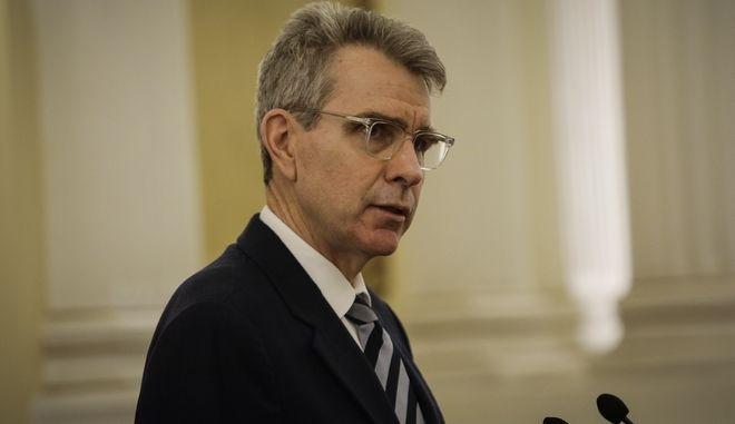 Ο πρέσβης των ΗΠΑ, στην Αθήνα Τζέφρι Πάιατ