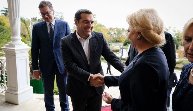 Ο πρωθυπουργός Αλέξης Τσίπρας σε στιγμιότυπο προηγούμενης τετραμερούς