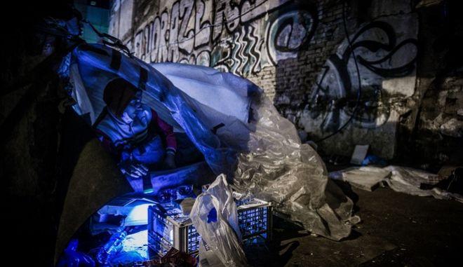 Άστεγοι στη Αθήνα (φωτογραφία αρχείου)