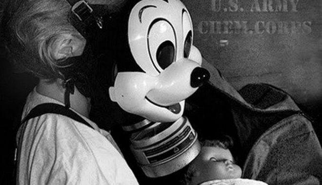 Μηχανή του Χρόνου: Γιατί ο Μίκι Μάους έγινε μάσκα αερίου; Ο τρόμος του πολέμου και της μαζικής καταστροφής