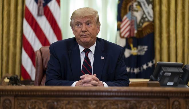 Ο Πρόεδρος Τραμπ στο Οβάλ Γραφείο, 4 Σεπτεμβρίου 2020