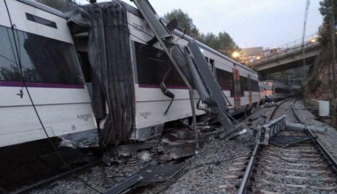 Στιγμιότυπο από σιδηροδρομικό δυστύχημα στην Ισπανία (φωτό αρχείου)
