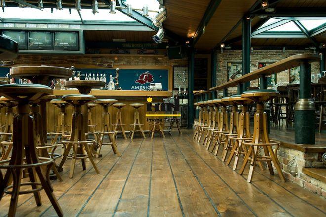 Casual dining area and bar at Jackson Hall. 4 Milioni Street. Kolonaki, Athens, Attica, Greece, Europe