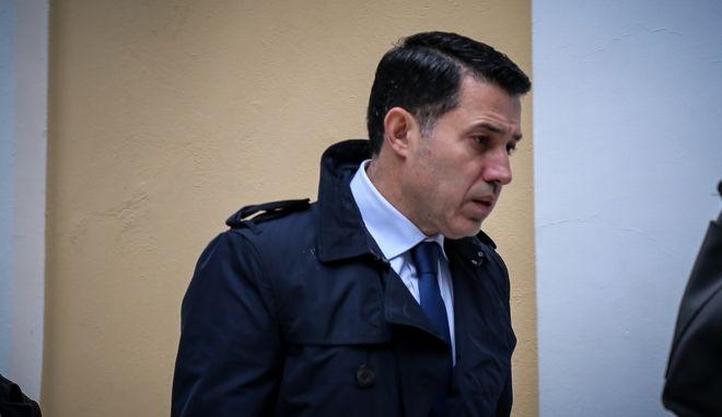 Ο Νίκος Μανιαδάκης στα δικαστήρια της οδού Ευελπίδων για να καταθέσει ενώπιον του Συμβουλίου Πλημμελειοδικών της Αθήνας