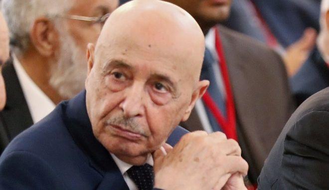 Ο πρόεδρος της Βουλής της Λιβύης Aguila Saleh Issa