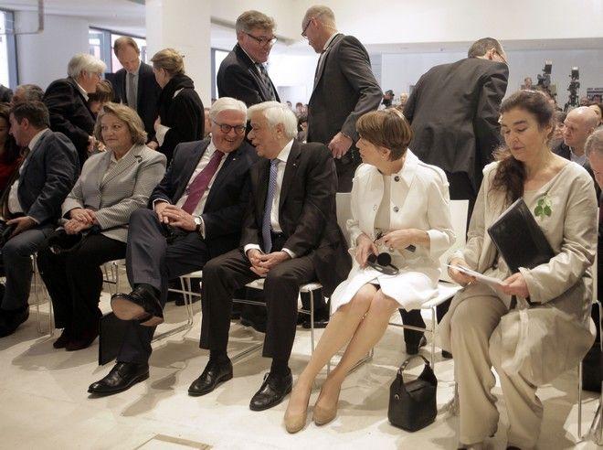 Εγκαίνια της έκθεσης documenta14 της Αθήνας από τον Πρόεδρο της Δημοκρατίας Προκόπη Παυλόπουλο και τον Γερμανό  ομόλογό του Φρανκ Βάλτερ Σταϊνμάιερ το Σάββατο 8 Απριλίου 2017. (EUROKINISSI/ΓΙΩΡΓΟΣ ΚΟΝΤΑΡΙΝΗΣ)
