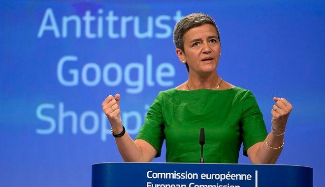 Η Επίτροπος Ανταγωνισμού της ΕΕ, Μαργκρέτ Βεστάγκερ
