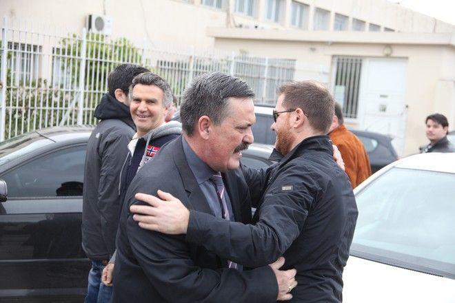 ΚΟΡΥΔΑΛΛΟΣ-29/3/2015-Αποφυλακίσθηκε σήμερα ο βουλευτής της Χρυσής Αυγής Χρήστος Παππάς από τις φυλακές Κορυδαλού.(EUROKINISSI-ΖΩΝΤΑΝΟΣ ΑΛΕΞΑΝΔΡΟΣ)