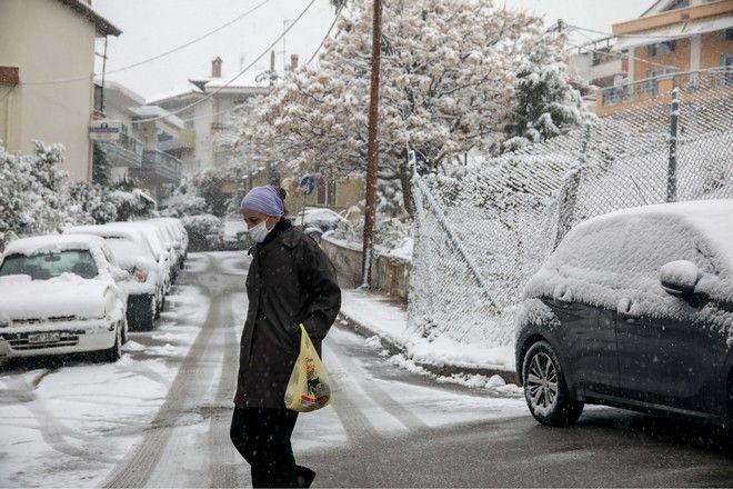 Χιόνια στη Θεσσαλονίκη