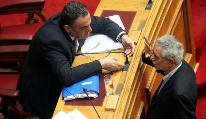 """Συζήτηση στην Βουλή του νομοσχεδίου του υπουργείου Δικαιοσύνης, Διαφάνειας και Ανθρωπίνων Δικαιωμάτων """"Ρυθμίσεις Ποινικού και Σωφρονιστικού Δικαίου και άλλες διατάξεις"""" την Τρίτη 8 Ιουλίου 2014. (EUROKINISSI/ΓΙΑΝΝΗΣ ΠΑΝΑΓΟΠΟΥΛΟΣ)"""