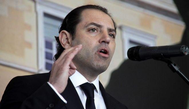 """Ο πρόεδρος του νέου κόμματος """"ΔΕΞΙΑ"""" Τάκης Μαυρίκος στην  παρουσίαση των βασικών αξόνων του πολιτικού προγράμματος του κόμματος, την Κυριακή 22 Μαρτίου 2015, στην Αθήνα. (EUROKINISSI/ΓΙΩΡΓΟΣ ΚΟΝΤΑΡΙΝΗΣ)"""