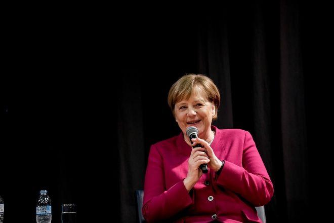Επίσκεψη της Καγκελάριου Άνγκελα Μέρκελ στη Γερμανική Σχολή, Παρασκευή 11 Ιανουαρίου 2019.(EUROKINISSI/ΣΤΕΛΙΟΣ ΜΙΣΙΝΑΣ)