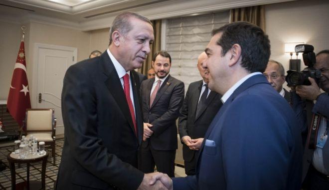 Νέα Υόρκη- Συνάντηση του Πρωθυπουργού, Αλέξη Τσίπρα με τον Πρόεδρο της Τουρκίας, Ρετζέπ Ταγίπ Ερντογάν.(EUROKINISSI- Γ.Τ. Πρωθυπουργού | Andrea Bonetti)